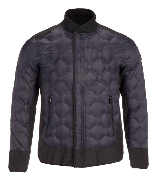Men's Geo Quilt Jacket in Black