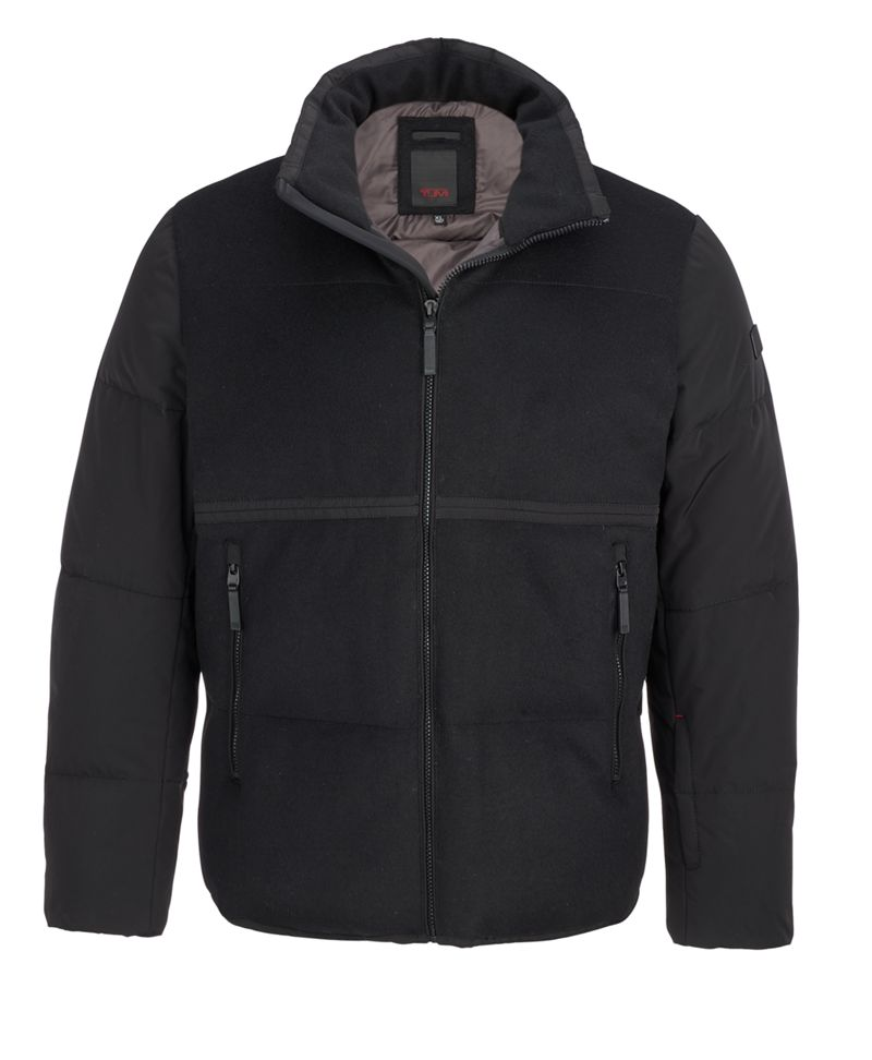 Men's Wool Blocked Puffer
