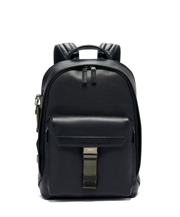 Morrison Backpack Leather in Algae