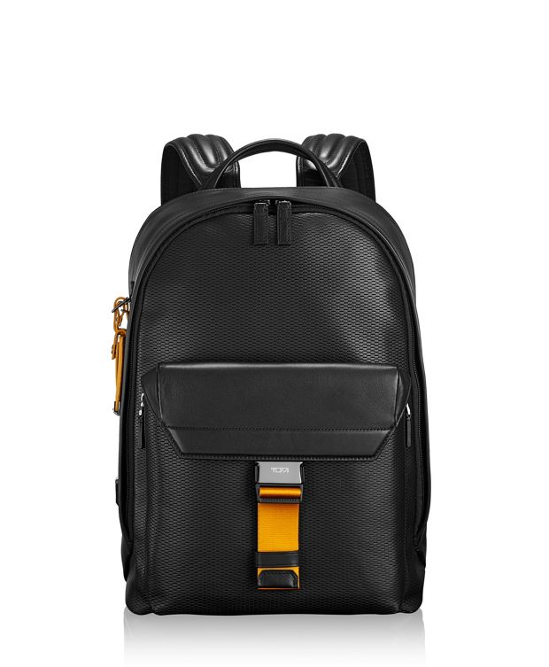 Morrison Backpack Leather in Marigold