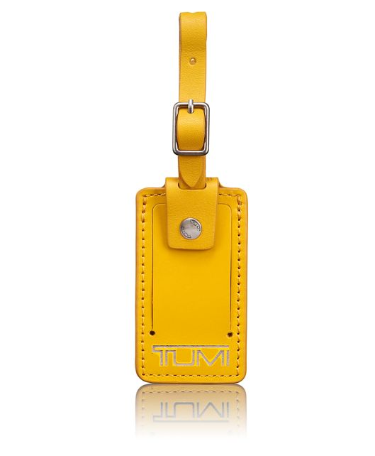 Small Luggage Tag in Yellow