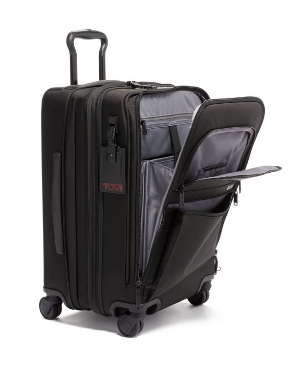 Black International Office 4 Wheeled Carry-On