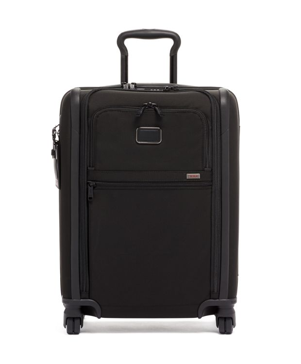 International Slim 4 Wheeled Carry-On in Black