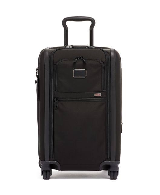 International Dual Access 4 Wheeled Carry-On in Black
