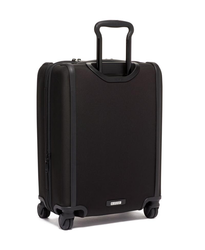 黑洲際雙拉鍊四輪手提行李箱