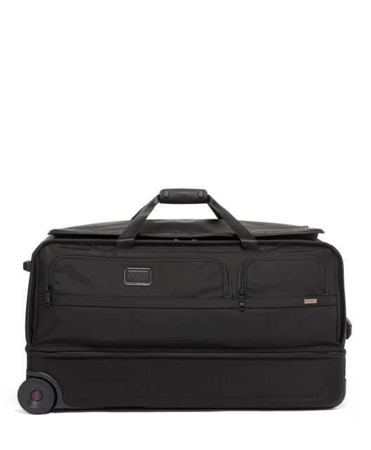 Large Split 2 Wheeled Duffel in Black