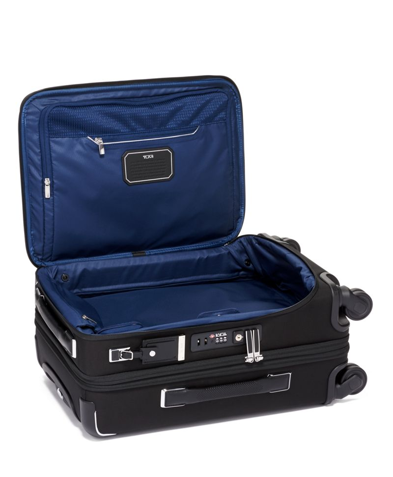Black International Dual Access 4 Wheeled Carry-On