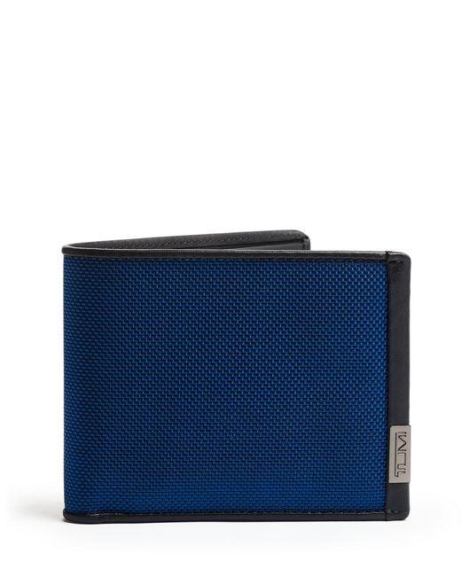 TUMI ID Lock™ Global Double Billfold in Blue/Congo Print