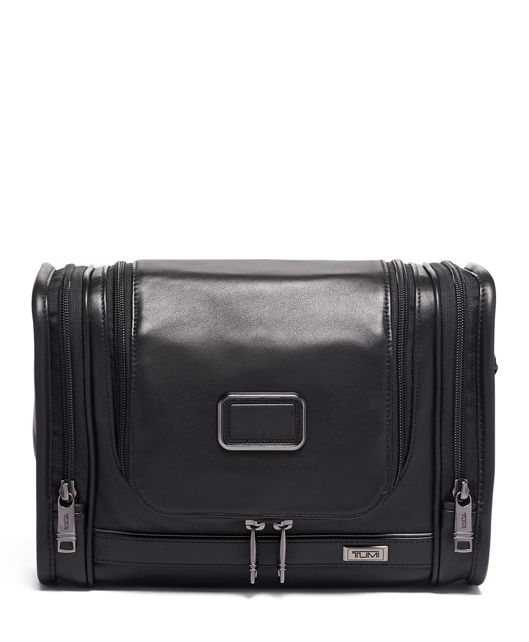 Hanging Travel Kit Leather in Black Leather