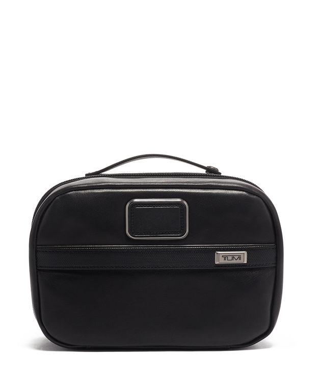 Split Travel Kit Leather in Black Leather