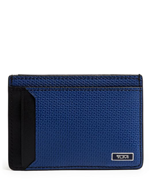 Money Clip Card Case in Navy