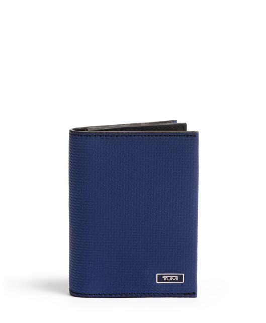 GUSSETED CARD CASE Blue - large | Tumi Thailand