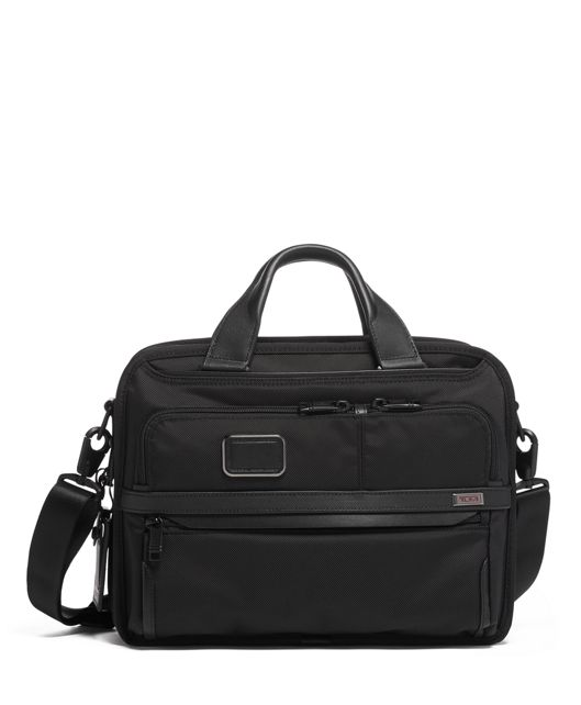EXPANDABLE LAPTOP BRIEF in Black