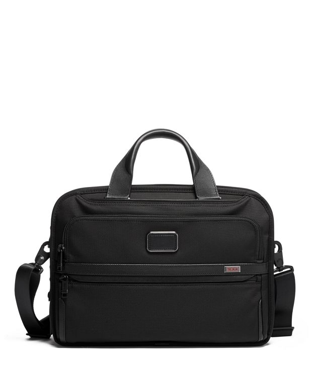 Triple Compartment Brief in Black