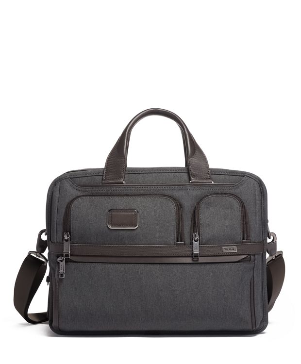 Expandable Organizer Laptop Brief in Anthracite