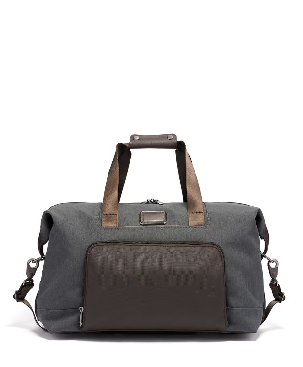 Double Expansion Travel Satchel in Anthracite