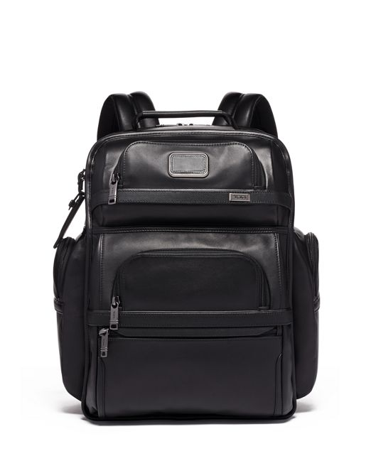 TUMI T-Pass® Business Class Brief Pack® Leather in Black Leather