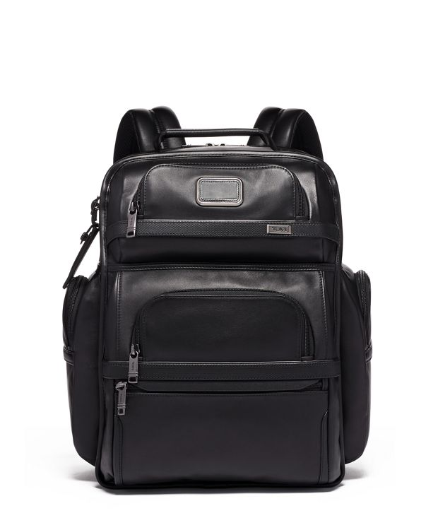 TUMI T-PASS BRIEF PACK in Black  Leather