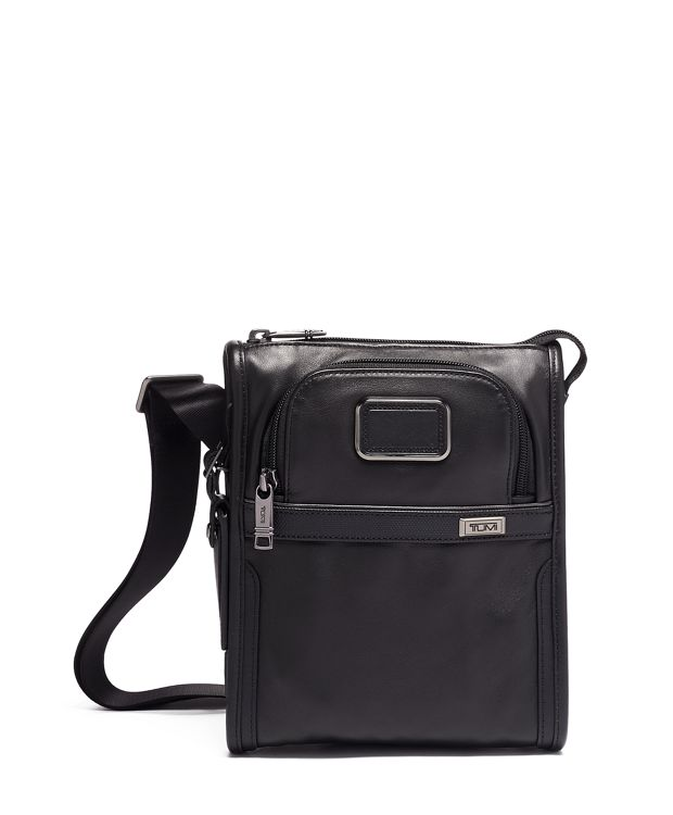 POCKET BAG SMALL in Black  Leather