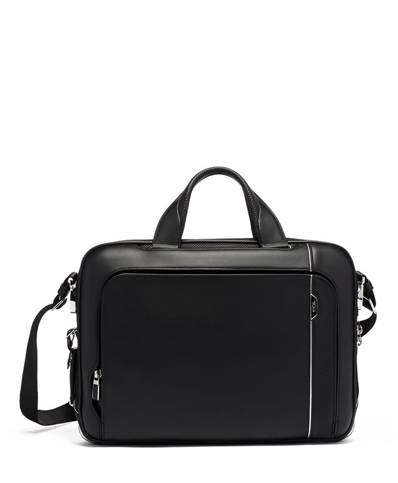 Black  Leather Sadler Brief Leather