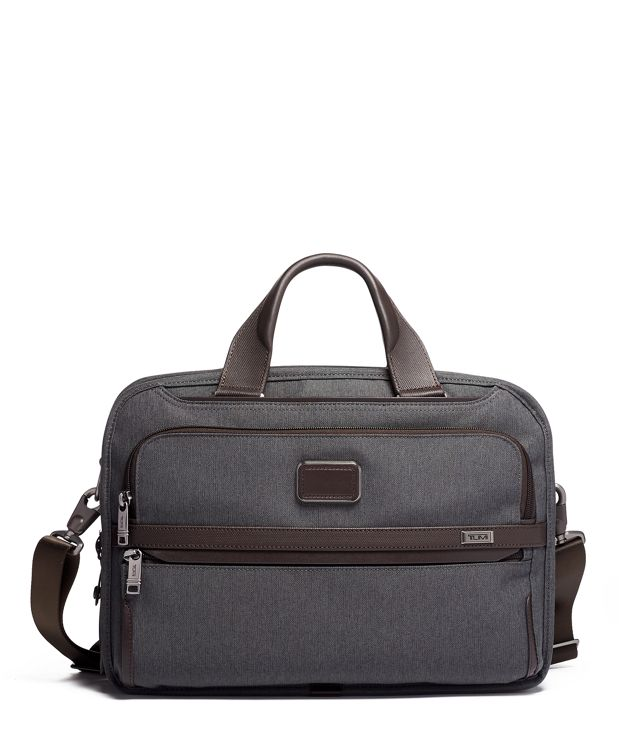 Triple Compartment Brief in Anthracite