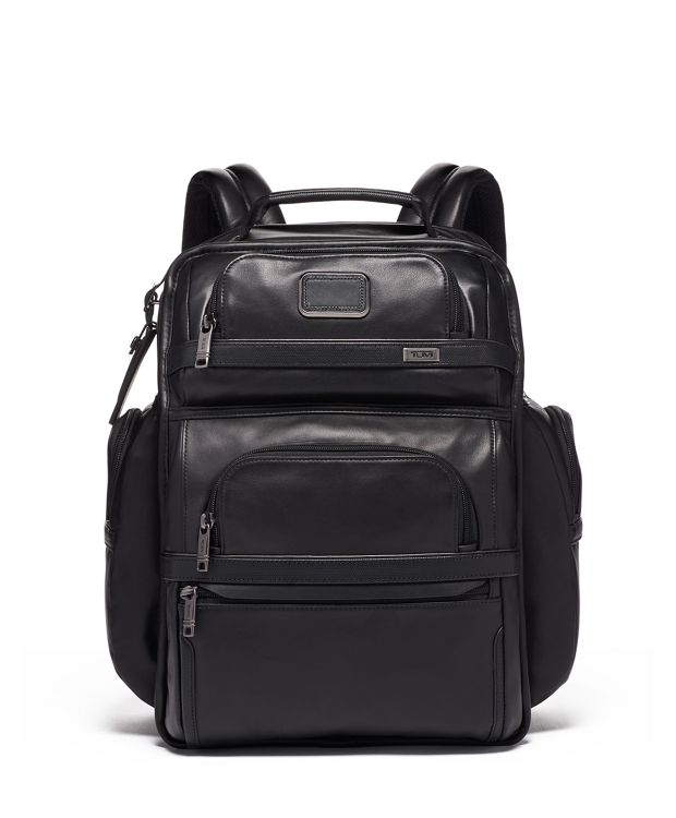TUMI Brief Pack® Leather in Black Leather