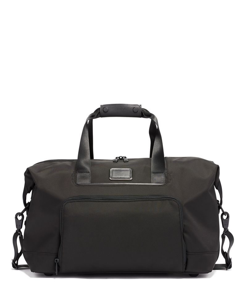 Black DOUBLE EXPANSION SATCHEL