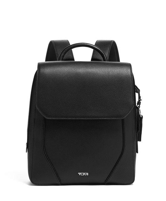 Tori Flap Backpack in Black