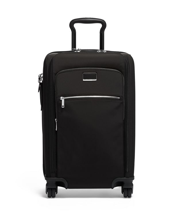 Sutter International Dual Access 4 Wheeled Carry-On in Black/Silver