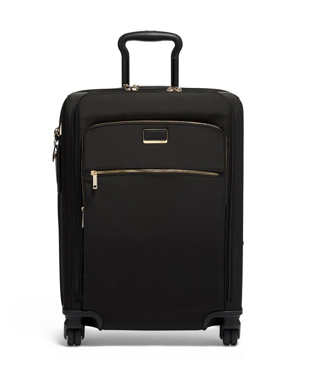 Abbey Continental Dual Access 4 Wheeled Carry-On in Black