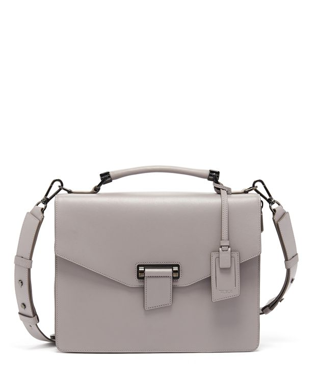 Delphine Expandable Brief in Elephant Grey