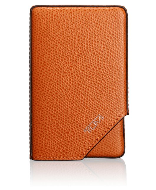 Business Card Case in Burnt Orange