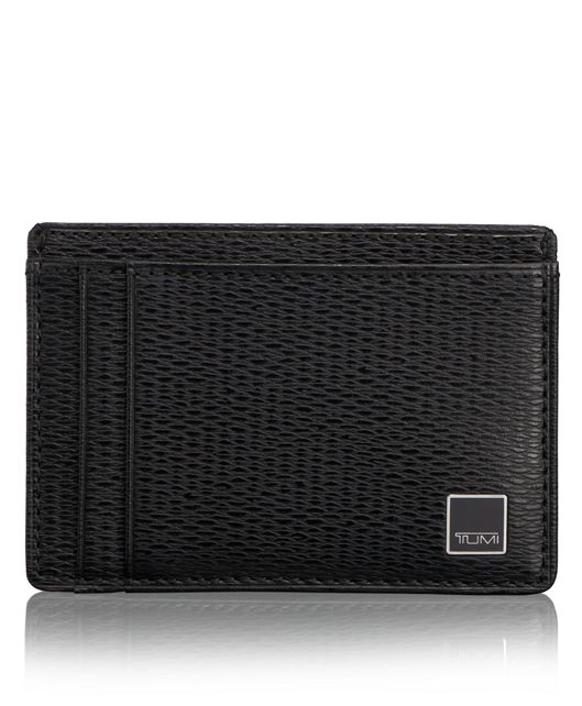 Money Clip Card Case in Black