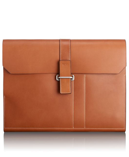 Large Clutch Folio in Whiskey