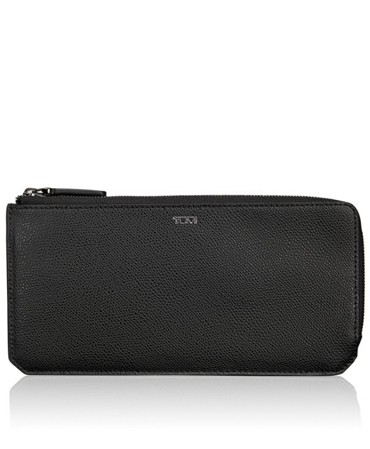 L-Zip Currency Organizer in Black