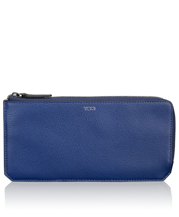 L-Zip Currency Organizer in Indigo
