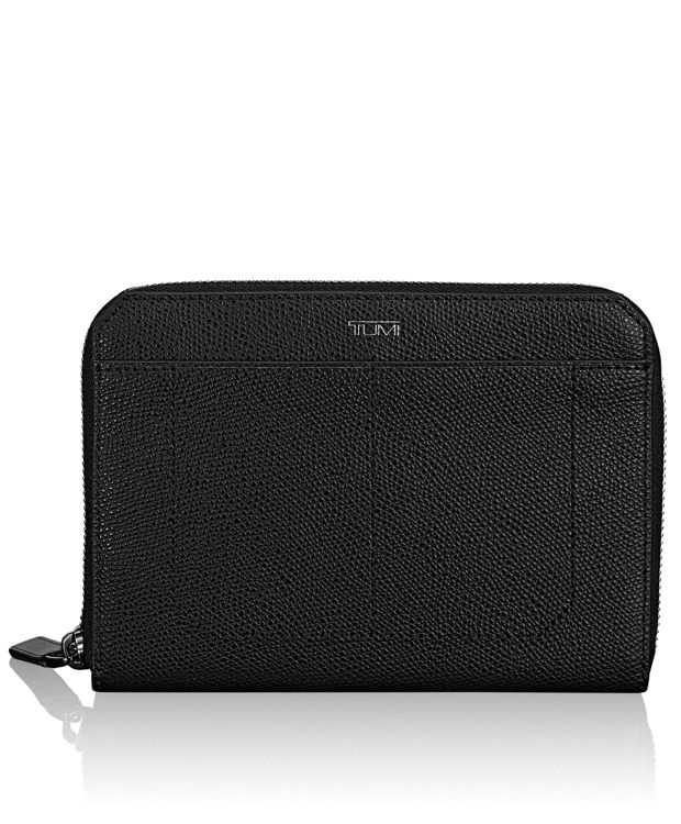 Zip-Around Multiple Passport Case in Black