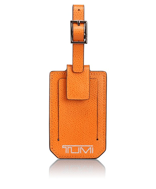 Luggage Tag in Burnt Orange