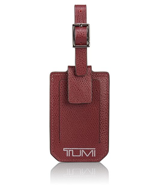 Luggage Tag in Merlot