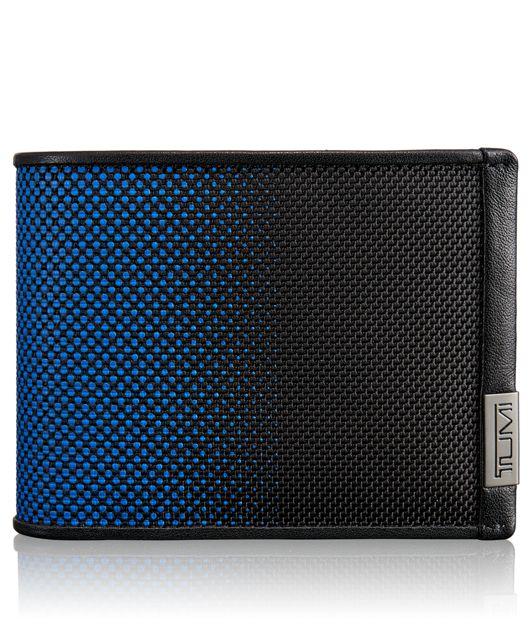 TUMI ID Lock™ Double Billfold in Blue Dot Ombre