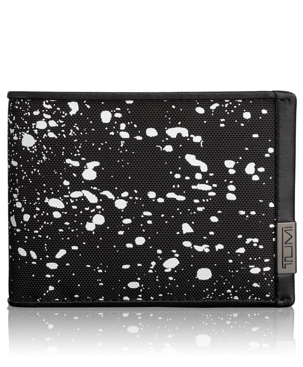 TUMI ID Lock™ Double Billfold in Galaxy Print