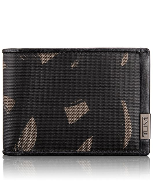 TUMI ID Lock™ Double Billfold in SMOKE CHARACTER
