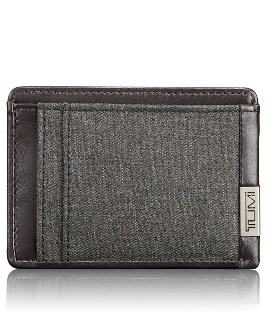 TUMI ID Lock™ Money Clip Card Case in Anthracite
