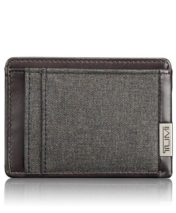 TUMI ID Lock™ Money Clip Card Case in Anthracite
