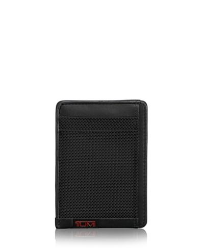 wholesale dealer 69194 17079 TUMI ID Lock™ Money Clip Card Case - Alpha - Tumi United States - Black