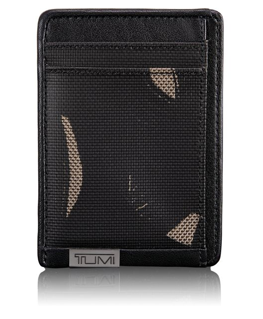 TUMI ID Lock™ Money Clip Card Case in SMOKE CHARACTER