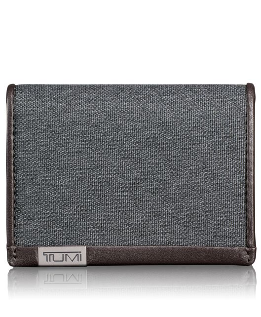 TUMI ID Lock™ Gusseted Card Case with ID in Anthracite