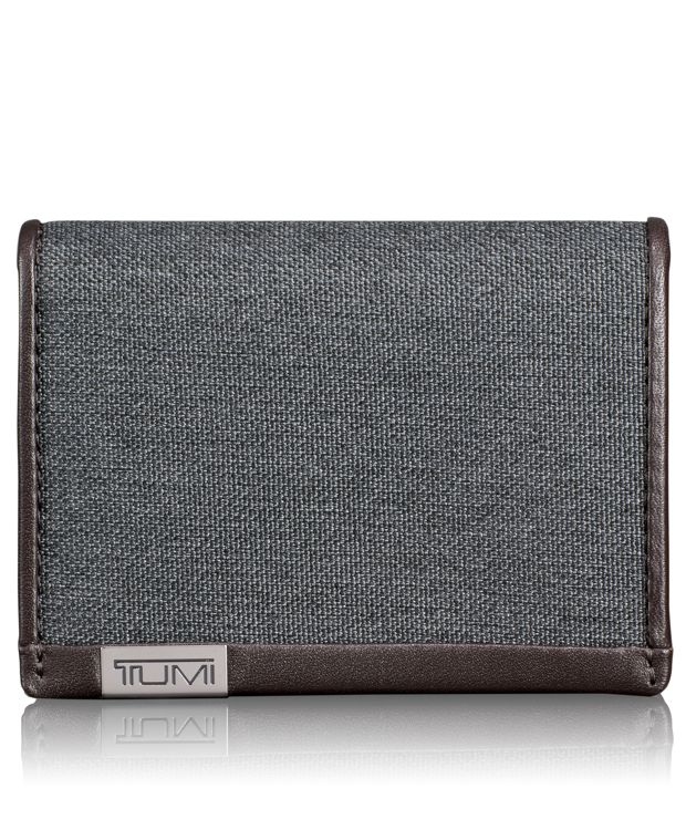 TUMI ID Lock™ Gusseted Card Case in Anthracite