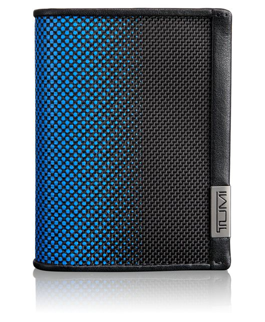 TUMI ID Lock™ Gusseted Card Case in Blue Dot Ombre