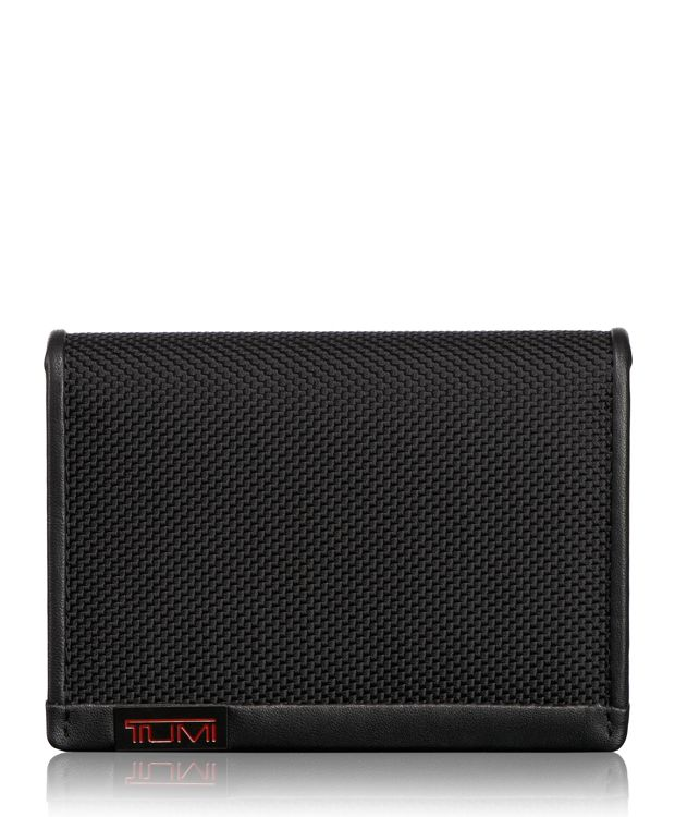 TUMI ID Lock™ Gusseted Card Case with ID in Black
